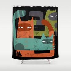 WHISKER BRACKETS Shower Curtain