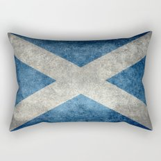 Flag of Scotland - Vintage retro style Rectangular Pillow