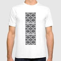 Black Damask  Mens Fitted Tee White SMALL