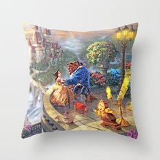 The Beauty and The Beast - All  Throw Pillow