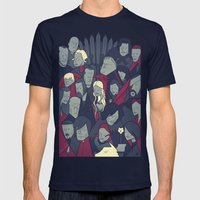 Game Of Thrones Mens Fitted Tee Navy SMALL