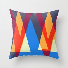 Up and Down Triangle Pattern Throw Pillow
