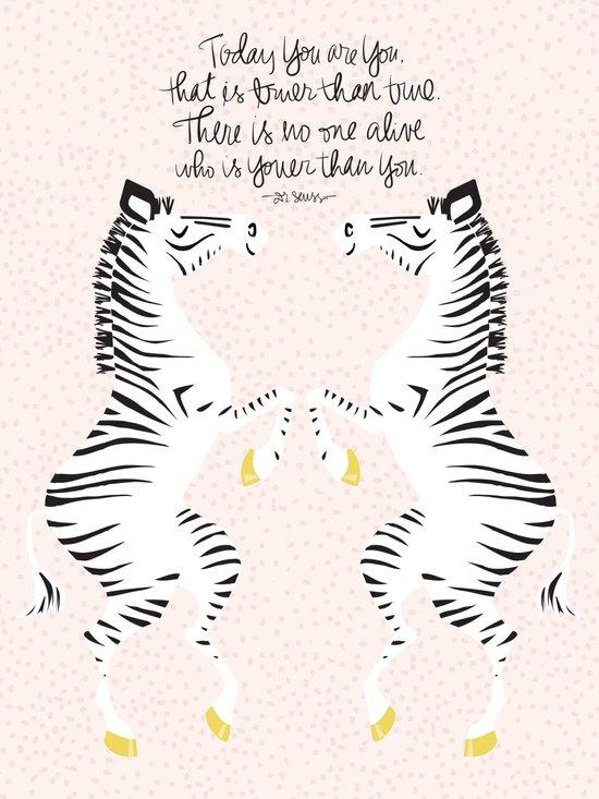 Zebras (Dr. Seuss) Canvas Print