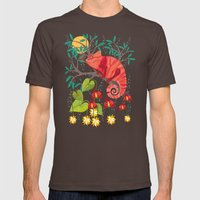 The Red Chameleon  Mens Fitted Tee Brown SMALL