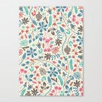 Retro Blooms Canvas Print