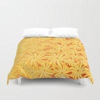 yellow flowers Duvet Cover
