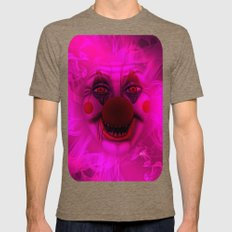 Cotton Candy Clown Mens Fitted Tee Tri-Coffee SMALL