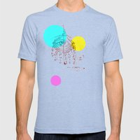 Eye See You Mens Fitted Tee Tri-Blue SMALL