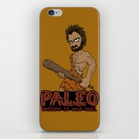 Paleo Before It Was Cool Crossfit Design by RonkyTonk iPhone & iPod Skin
