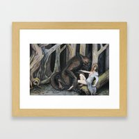 Meeting The Wolf Framed Art Print