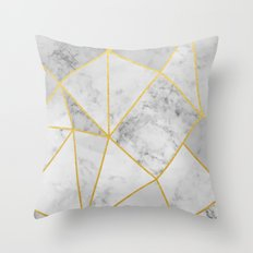 Shattered Marble Throw Pillow