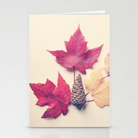 Red Maple Leaf Collectio… Stationery Cards