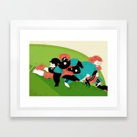 RUGBY Framed Art Print