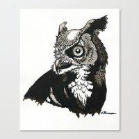 Eastern Screech Owl Canvas Print