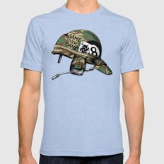 Game Over, Man! Mens Fitted Tee Tri-Blue SMALL