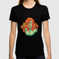 Poison Ivy Womens Fitted Tee Black SMALL
