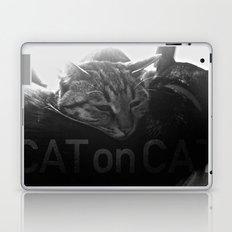 Cat on Cat Laptop & iPad Skin