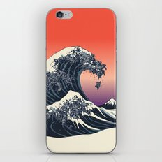 The Great Wave of Black Pug iPhone & iPod Skin
