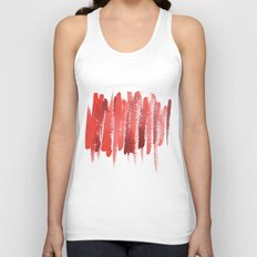 Red Strokes Unisex Tank Top