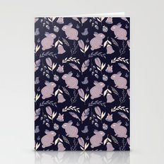 Rabbits and Flowers 005 Stationery Cards