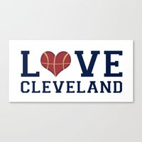 Love Cavs Canvas Print