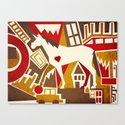 Abstract Pattern Unicorn Canvas Print