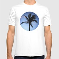 Palm at Sunset Mens Fitted Tee White SMALL