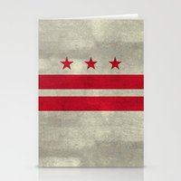 Washington D.C flag with worn stone marbled patina Stationery Cards