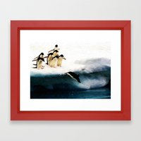 The Penguin Party - Painting Style Framed Art Print