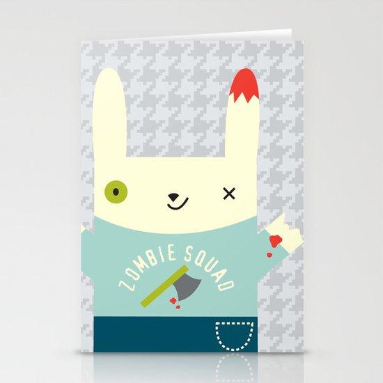 Zombie Bunny Patrol Stationery Card
