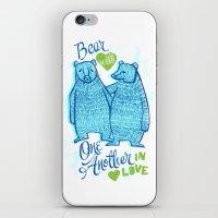 BEAR IN LOVE iPhone & iPod Skin