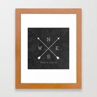 East & West Framed Art Print