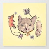 Al Gato Y Al Raton Canvas Print