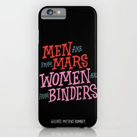 iPhone & iPod Case featuring Men Are From Mars, Women Are From Binders by Chris Piascik