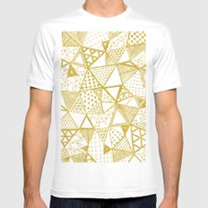 Golden Doodle triangles Mens Fitted Tee SMALL White