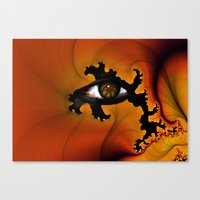 Firey Eye Canvas Print