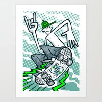 Skate Air Art Print