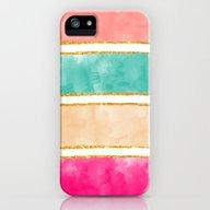 Modern Stripes Pink Red … iPhone (5, 5s) Slim Case