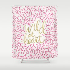 Wild At Heart – Pink &… Shower Curtain