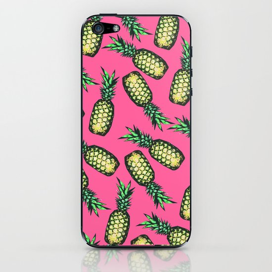 Pineapple Pattern iPhone & iPod Skin