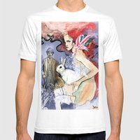 Brickred Jan Mens Fitted Tee White SMALL