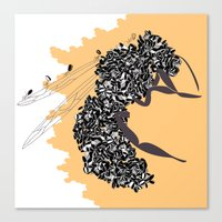 Seeds and the wasp Canvas Print