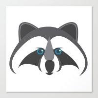 Forest Friends: Raccoon Canvas Print