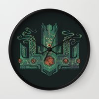 The Crown Of Cthulhu Wall Clock