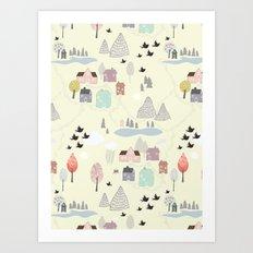 'Den lilla Staden' Art Print