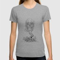 Extinction  Womens Fitted Tee Athletic Grey SMALL