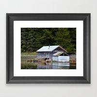 Sheltered Reflections Framed Art Print