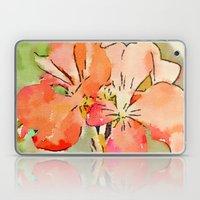 Orange Pélargonium Flow… Laptop & iPad Skin