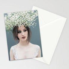 Floral portrait Stationery Cards
