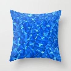 Blue Pasta Throw Pillow